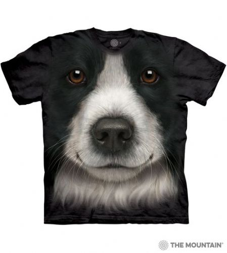 Border Collie Face T-shirt | The Mountain®